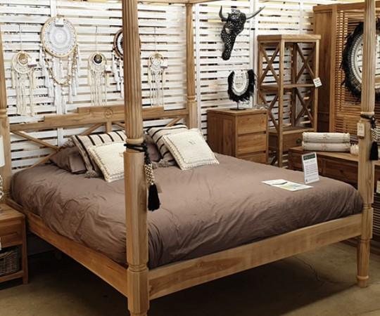cama de teka canarias